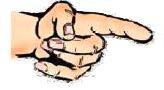 hand mit zeigefinger